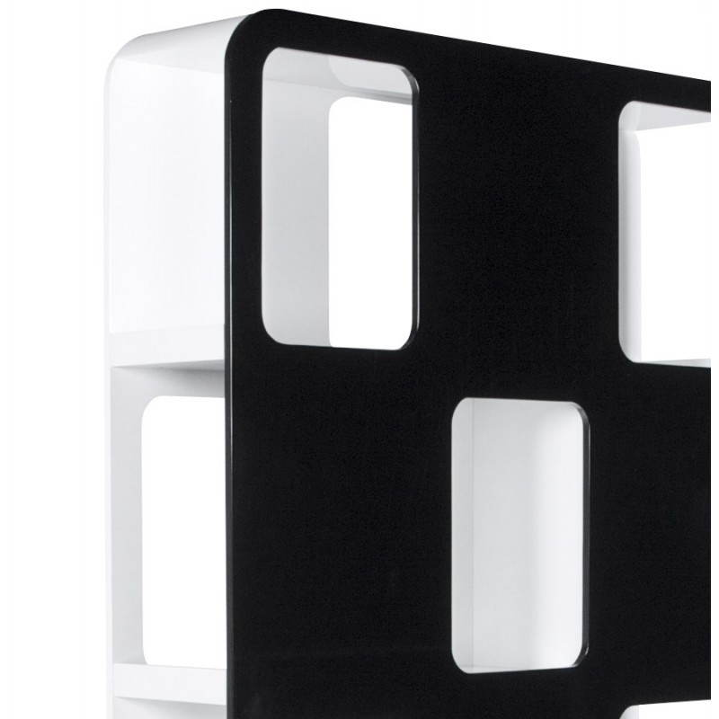 Shelf or screen LAGOON lacquered wooden (black and white) - image 21190