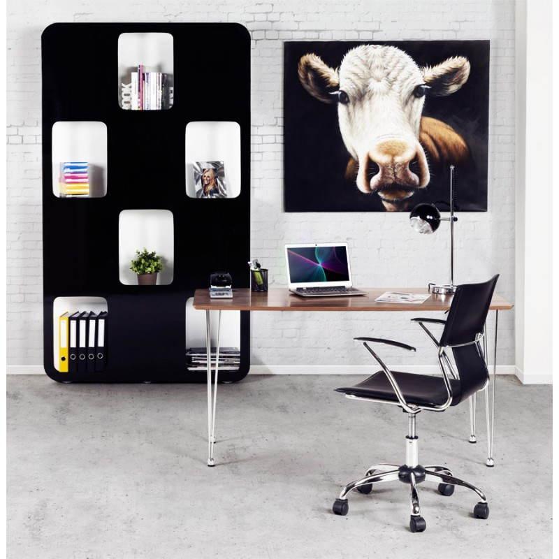 regal oder bildschirm lagune lackiert aus holz schwarz. Black Bedroom Furniture Sets. Home Design Ideas