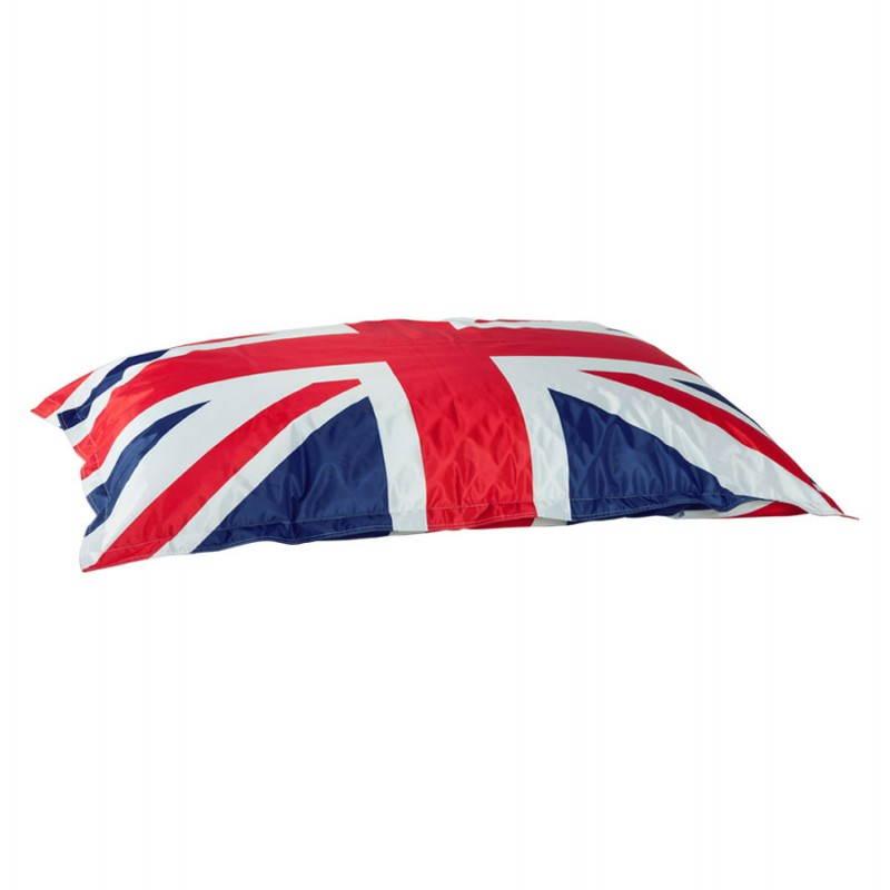 Puff rectangular gigante MILLOT UK en textiles (azul, blanco y rojo) - image 21199