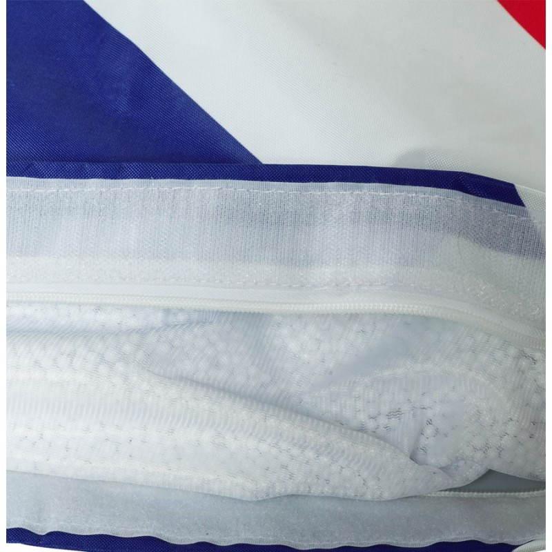 Pouf rectangulaire géant MILLOT UK en textile (bleu, blanc et rouge) - image 21206