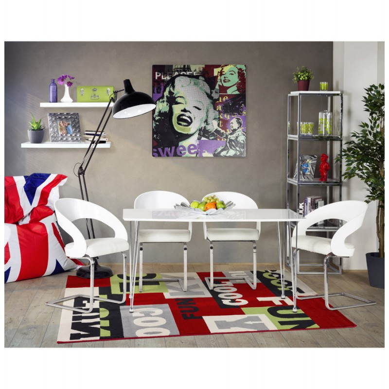 Puff rectangular gigante MILLOT UK en textiles (azul, blanco y rojo) - image 21208