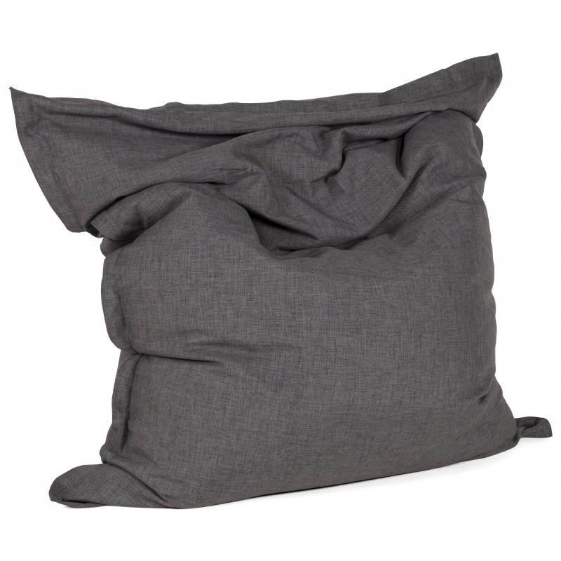 Pouf rectangulaire SALIN en textile (gris foncé) - image 21209