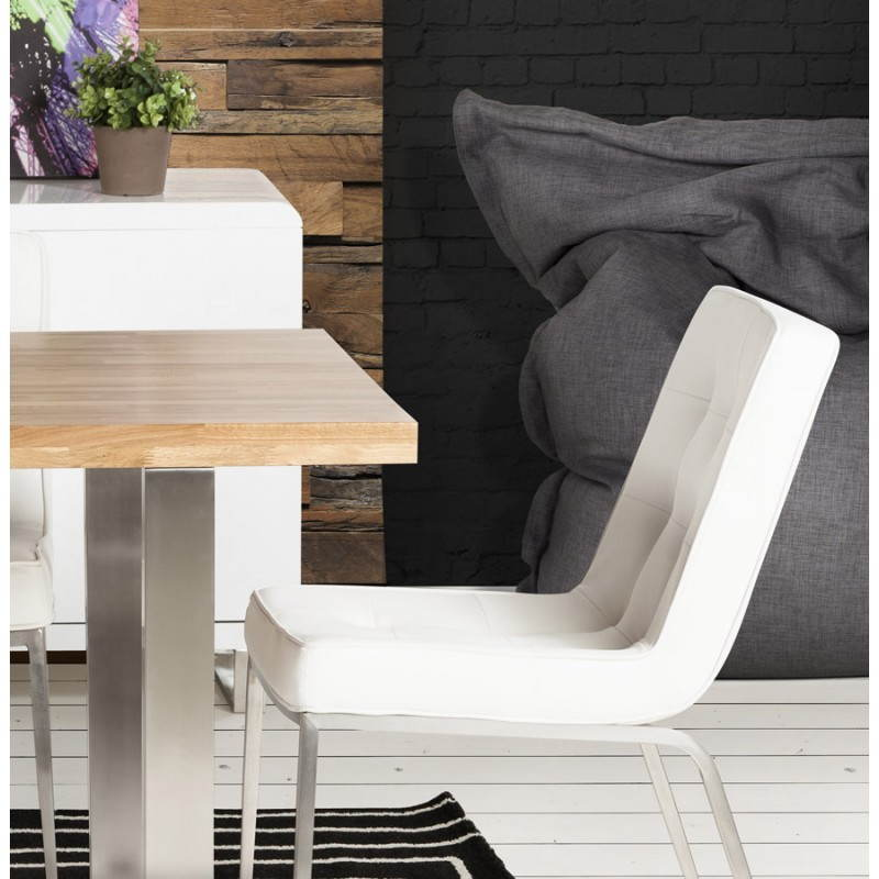 Pouf rectangulaire SALIN en textile (gris foncé) - image 21218