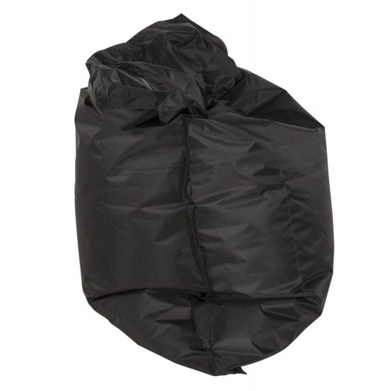 Pouf rectangulaire JANOT en textile (noir) - image 21221