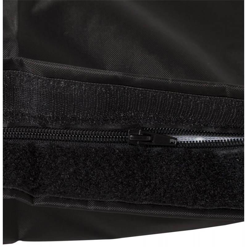 Pouf rectangulaire JANOT en textile (noir) - image 21224