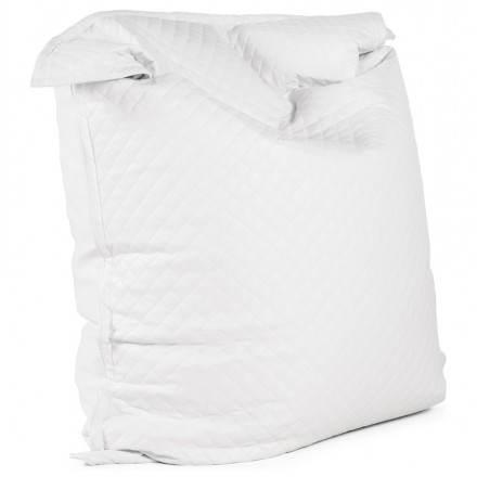 Puff rettangolare poliuretano tessile LILIAN (bianco)