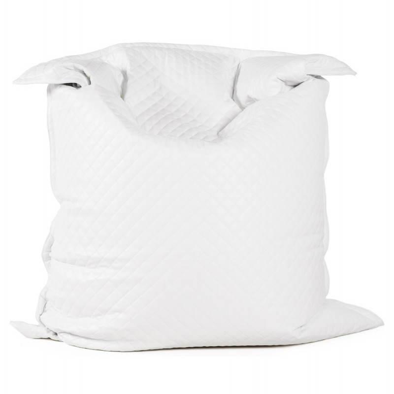 Pouf rectangulaire LILIAN  en textile polyuréthane (blanc) - image 21236