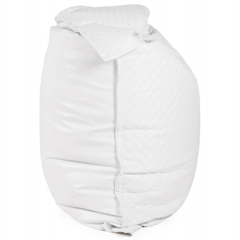Pouf rectangulaire LILIAN  en textile polyuréthane (blanc) - image 21237