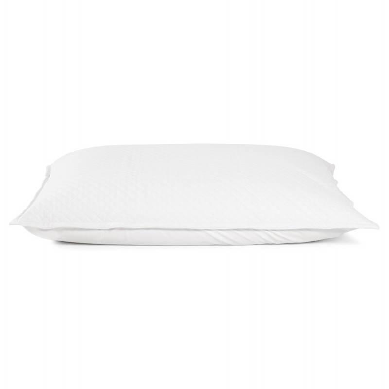 Pouf rectangulaire LILIAN  en textile polyuréthane (blanc) - image 21239