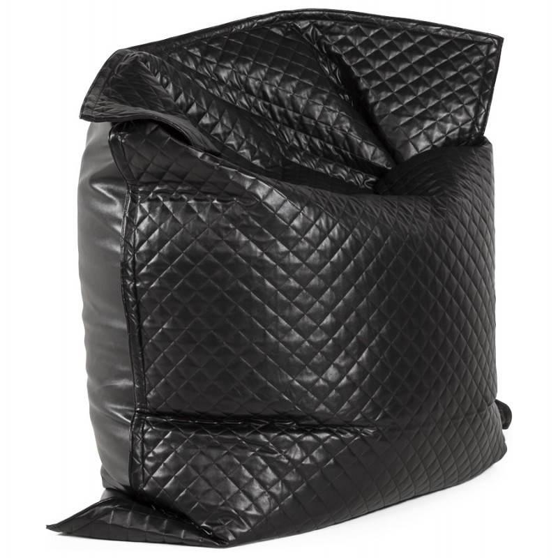 Pouf rectangulaire LILIAN en textile polyuréthane (noir) - image 21244