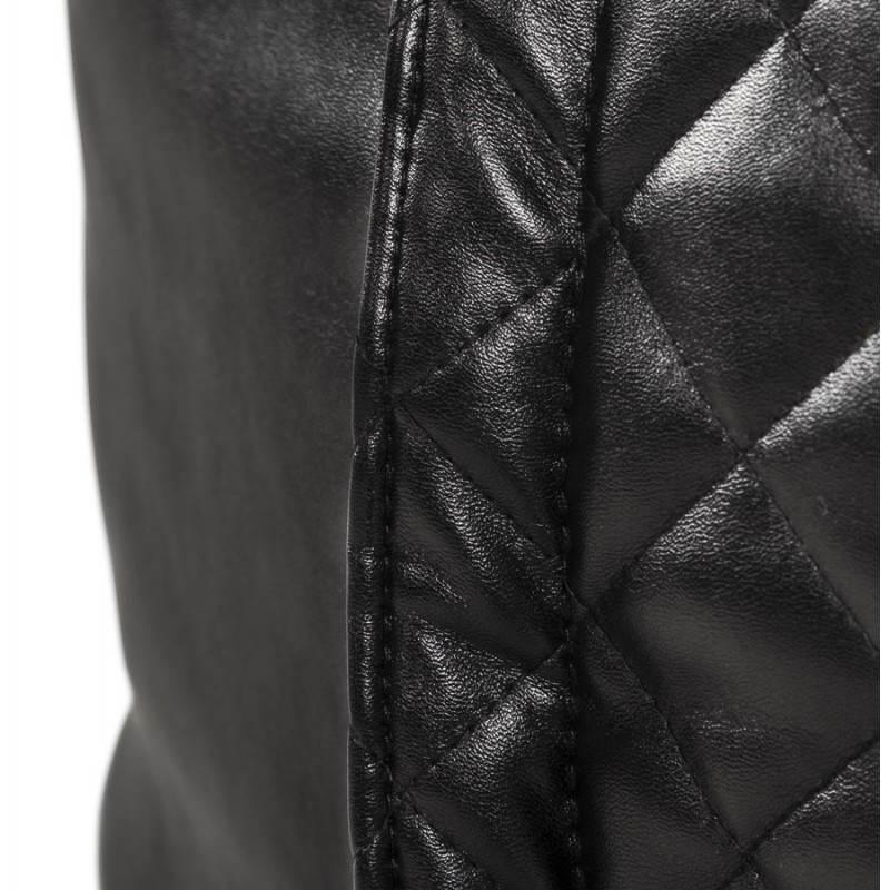 Pouf rectangulaire LILIAN en textile polyuréthane (noir) - image 21249