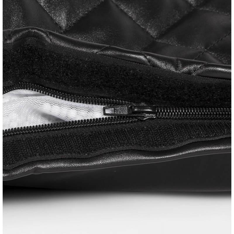 Pouf rectangulaire LILIAN en textile polyuréthane (noir) - image 21251