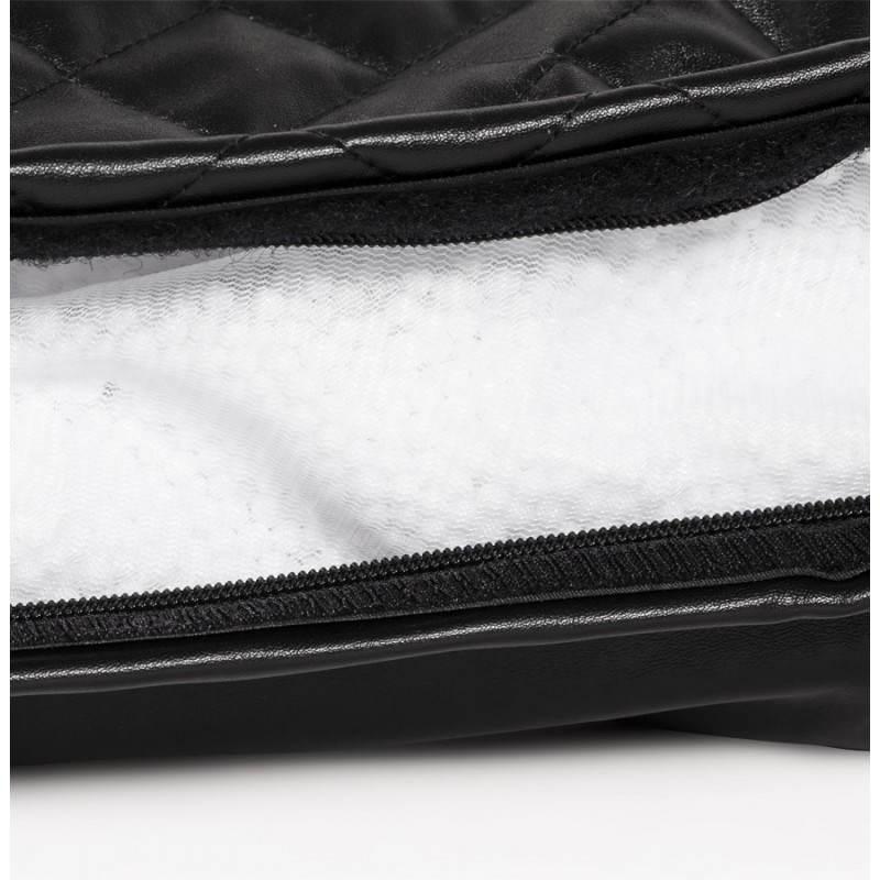 Pouf rectangulaire LILIAN en textile polyuréthane (noir) - image 21252