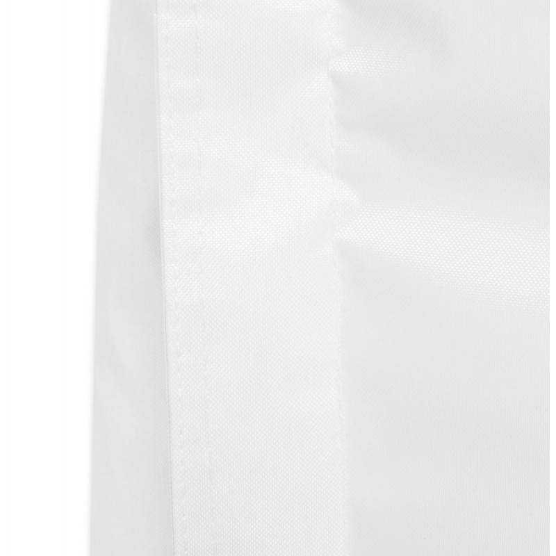 Pouf rectangulaire MILLOT en textile (blanc) - image 21259