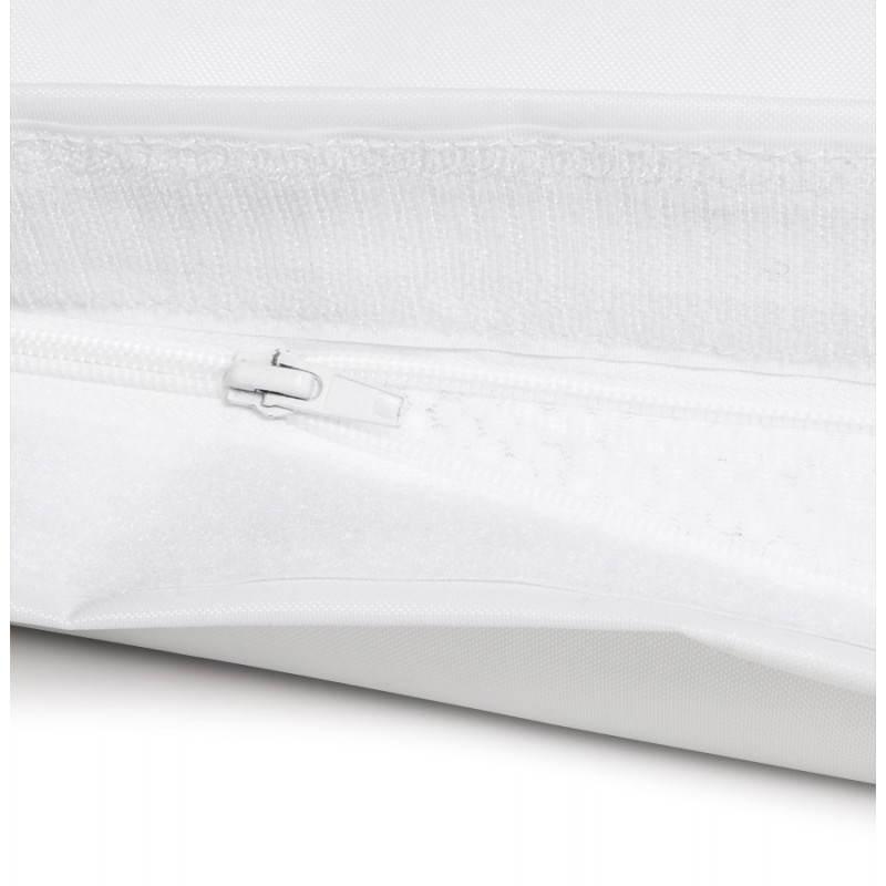 Pouf rectangulaire MILLOT en textile (blanc) - image 21260