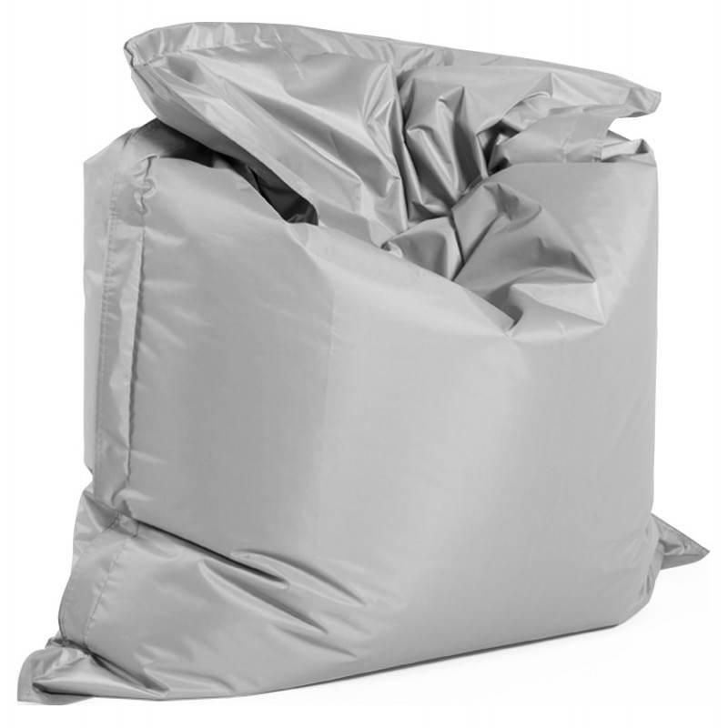 Pouf rectangulaire MILLOT en textile (gris)