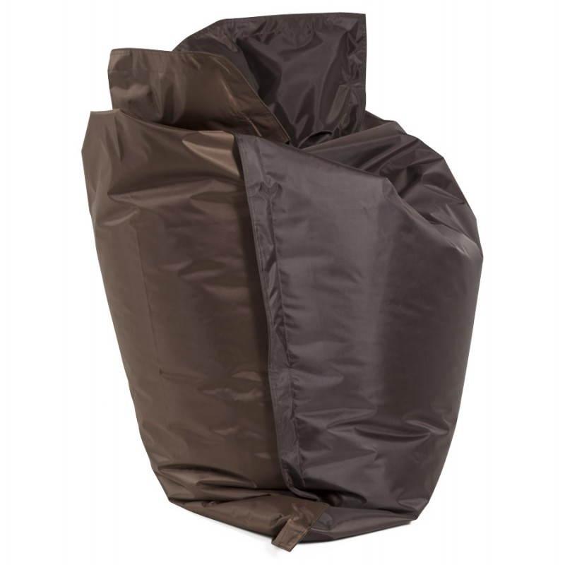 Pouf rectangulaire MILLOT en textile (marron) - image 21273