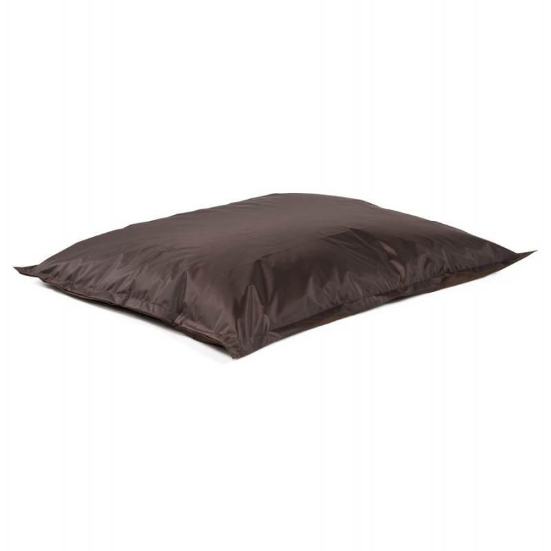 Pouf rectangulaire MILLOT en textile (marron) - image 21274