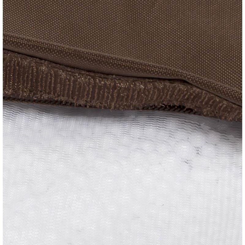 Pouf rectangulaire MILLOT en textile (marron) - image 21281