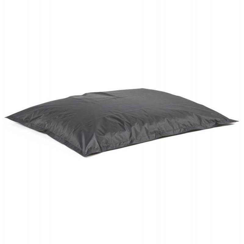 Puff rectangular MILLOT textile (dark grey) - image 21285