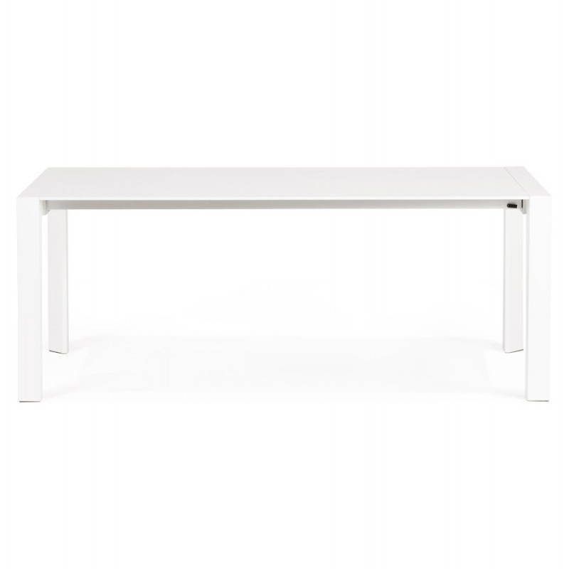 Design table with 2 extensions MACY (white) painted wood - image 21294