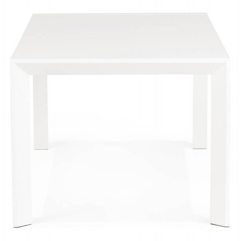 design tisch mit 2 verl ngerungen macy wei lackiertem holz. Black Bedroom Furniture Sets. Home Design Ideas