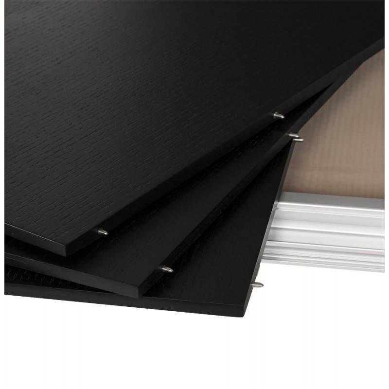 Table design avec 2 rallonges MACY en bois peint (noir) - image 21326