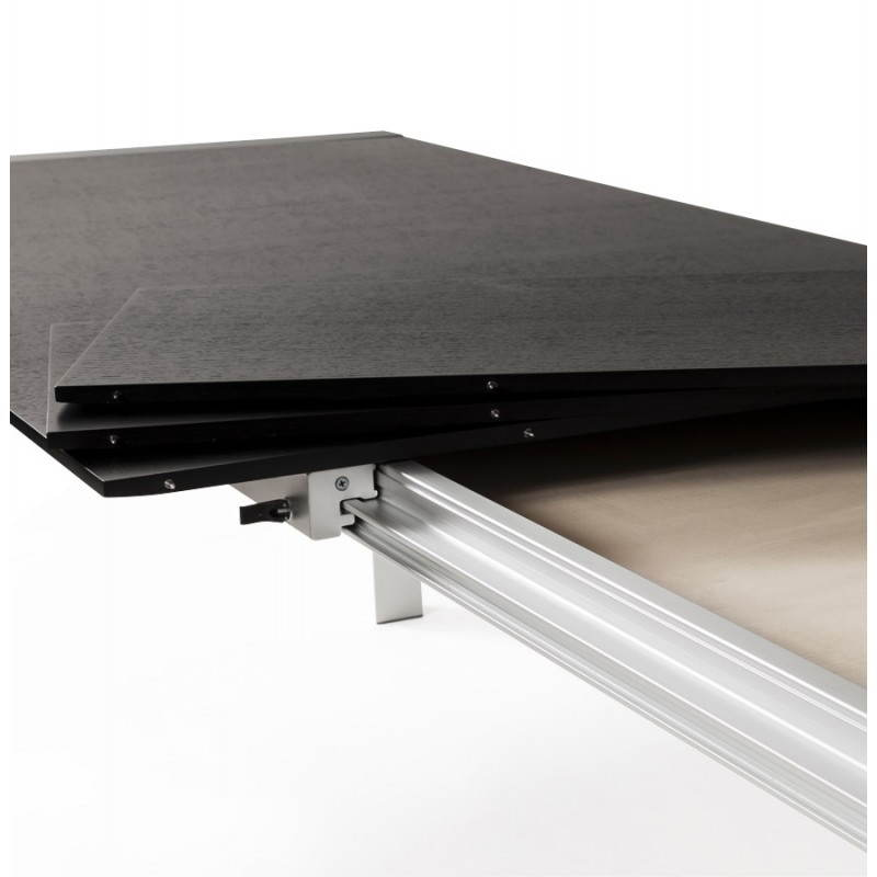 Tavolo di design con 2 estensioni MACY in legno verniciato (nero) - image 21328
