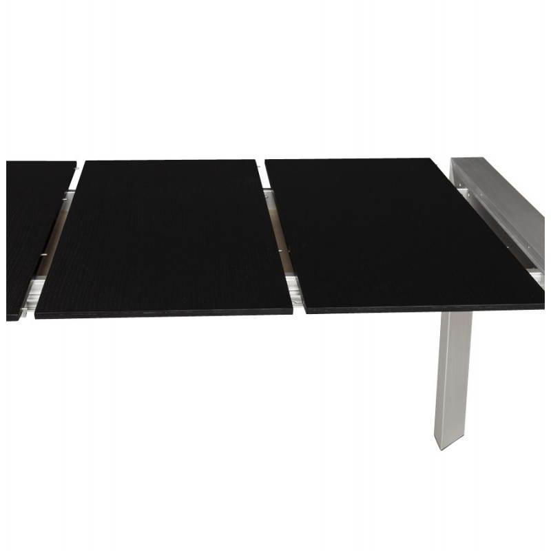 Tavolo di design con 2 estensioni MACY in legno verniciato (nero) - image 21329