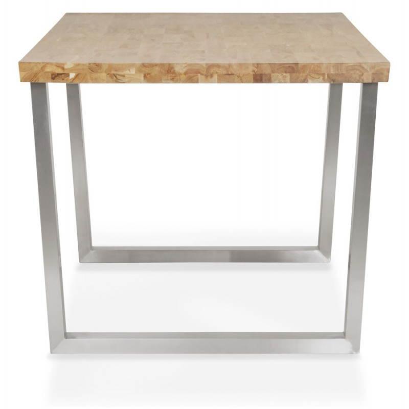 Table moderne rectangulaire PANOU en chêne massif (bois naturel) - image 21337