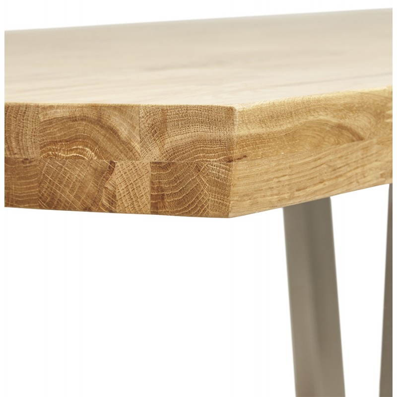 Table moderne rectangulaire PANOU en chêne massif (bois naturel) - image 21338