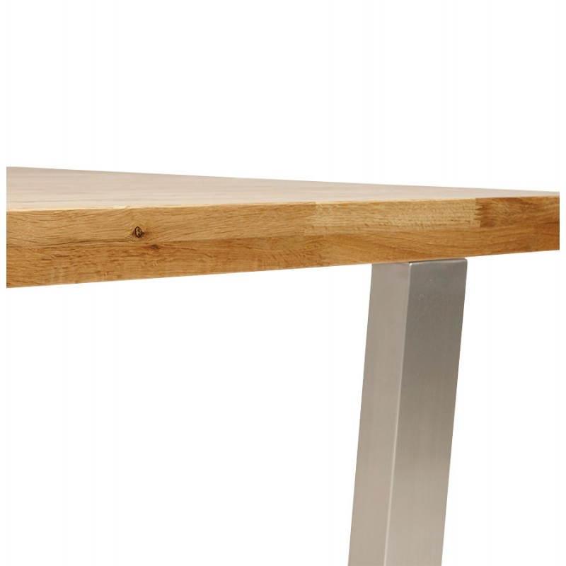 Table moderne rectangulaire panou en ch ne massif 180cmx90cmx77 5cm bois naturel - Table en chene massif moderne ...
