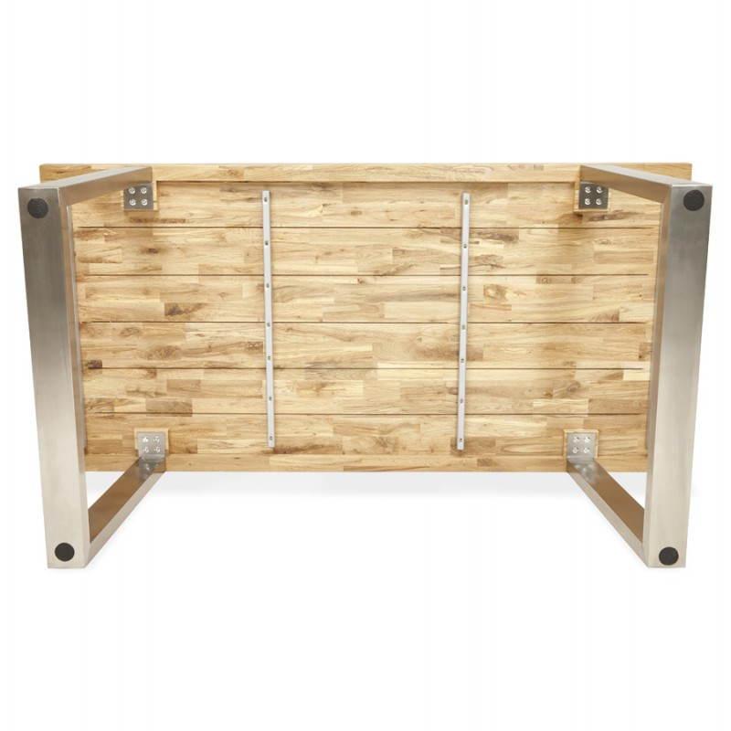 Table moderne rectangulaire PANOU en chêne massif (bois naturel) - image 21343