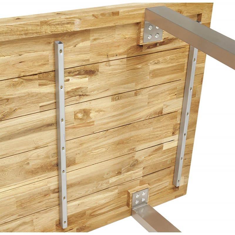 Table moderne rectangulaire PANOU en chêne massif (bois naturel) - image 21344