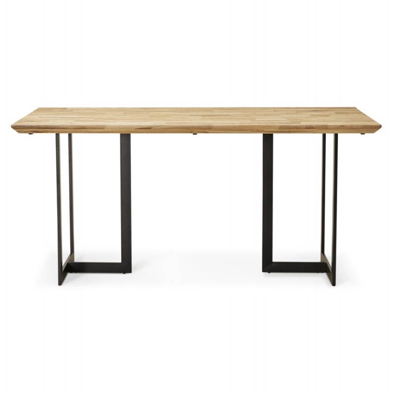 table moderne rectangulaire nanou en ch ne 160cmx90cmx75cm bois naturel. Black Bedroom Furniture Sets. Home Design Ideas