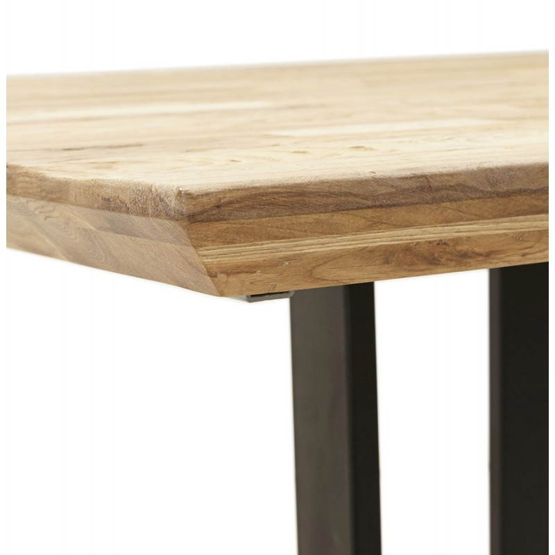 Table moderne rectangulaire NANOU en chêne (bois naturel) - image 21358