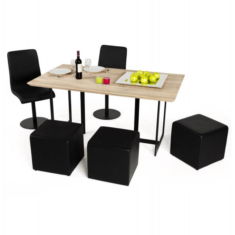 Table moderne rectangulaire NANOU en chêne (bois naturel) - image 21369