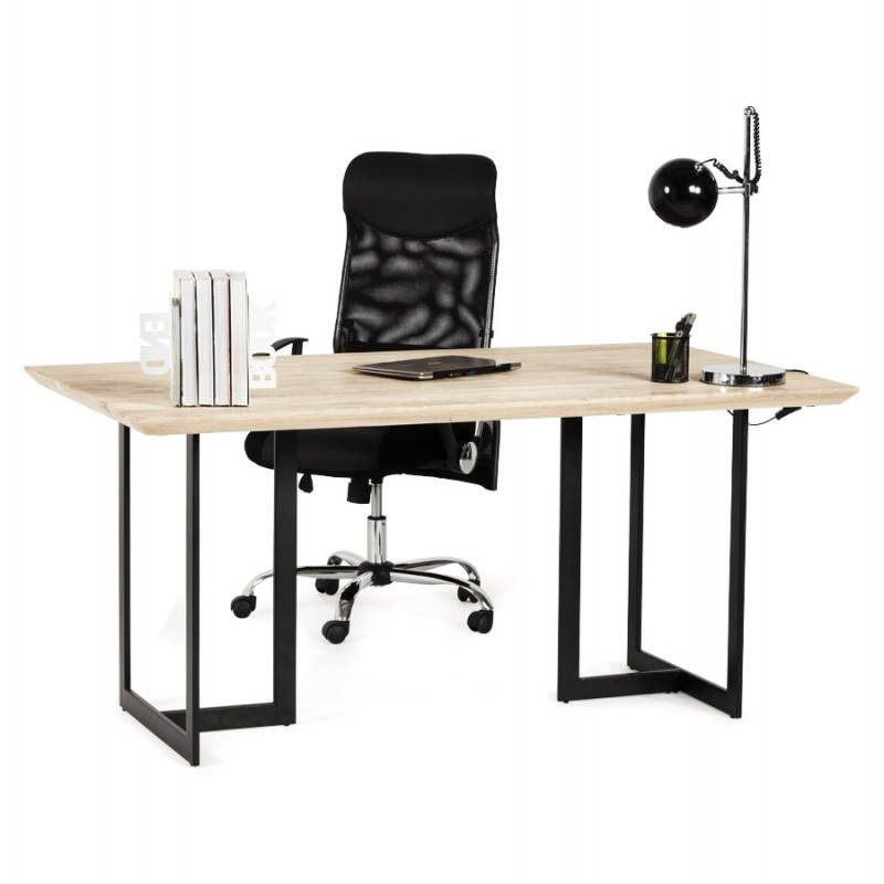 Table moderne rectangulaire NANOU en chêne (bois naturel) - image 21371