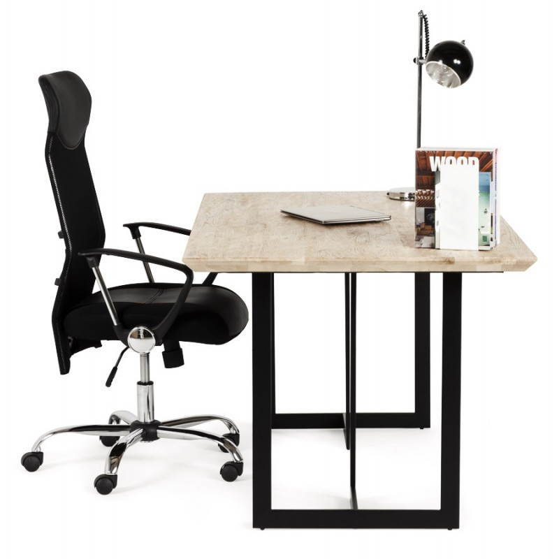 Table moderne rectangulaire NANOU en chêne (bois naturel) - image 21373