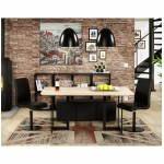 Tavolo moderno rettangolare in rovere (legno naturale) nn