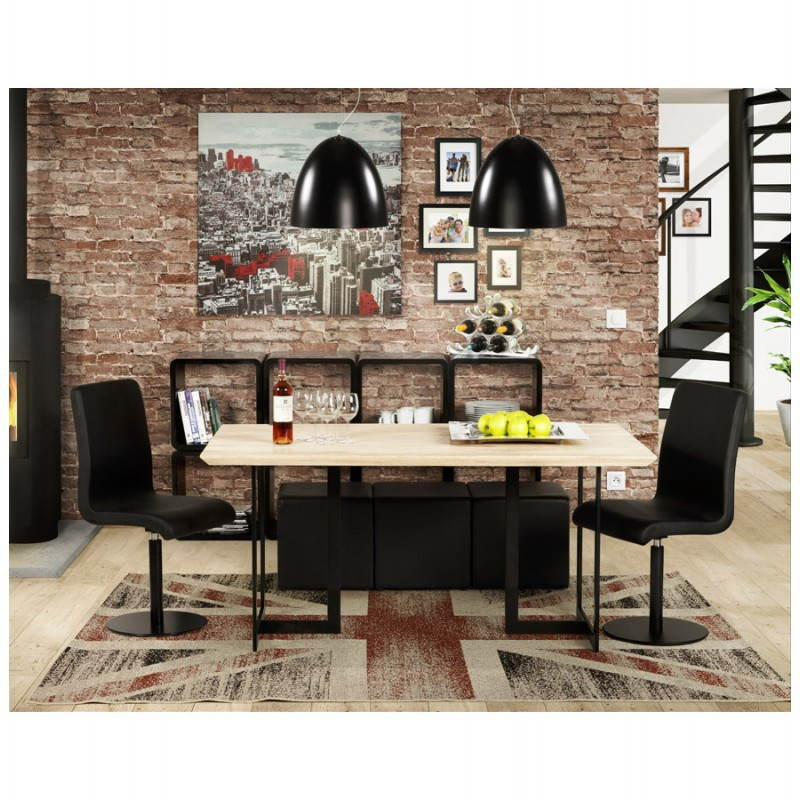 Table moderne rectangulaire NANOU en chêne (bois naturel) - image 21374