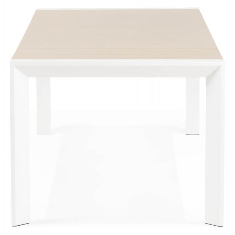 Rectangular design table with extensions SOLO veneered oak and metal (natural wood) - image 21414