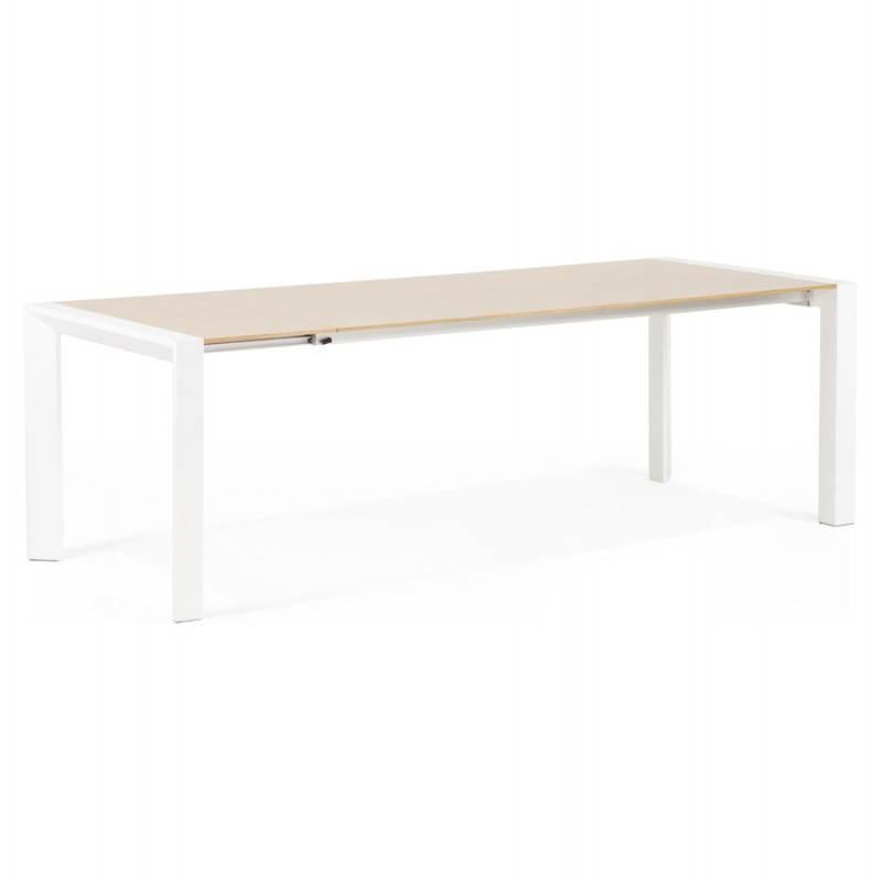 Rechteckige design tisch mit erweiterungen solo furnierte for Tisch design eiche