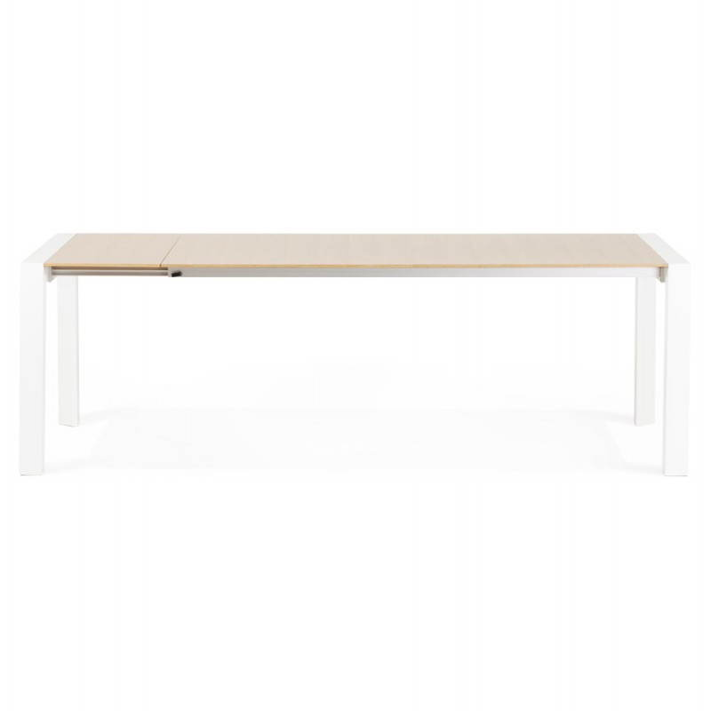 Rectangular design table with extensions SOLO veneered oak and metal (natural wood) - image 21416