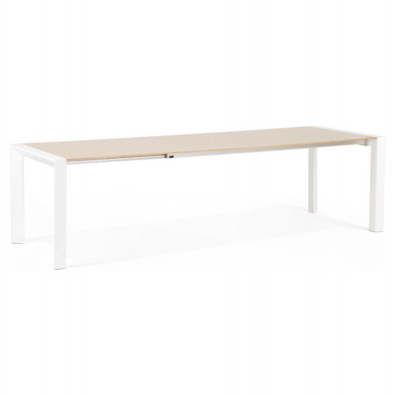 Rectangular design table with extensions SOLO veneered oak and metal (natural wood) - image 21417
