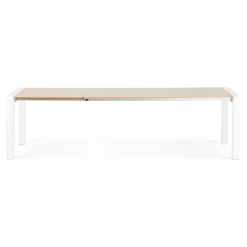 Rectangular design table with extensions SOLO veneered oak and metal (natural wood) - image 21418