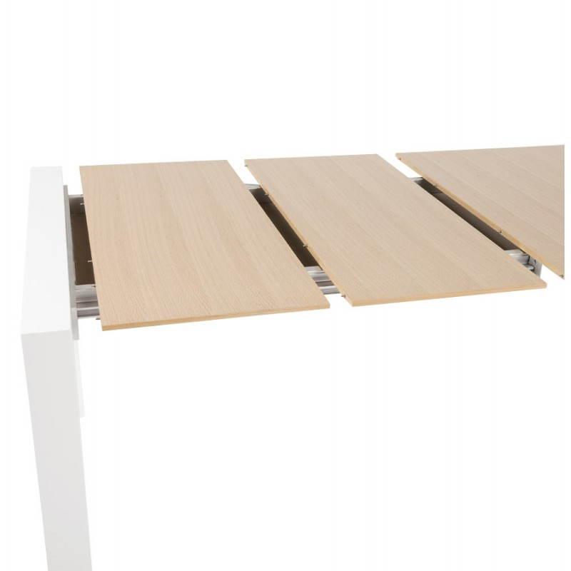 Table Bois Et Metal Avec Rallonge - Table design avec rallonges SOLO en plaqué ch u00eane et métal (190 270cmX95cmX74cm) (bois naturel)
