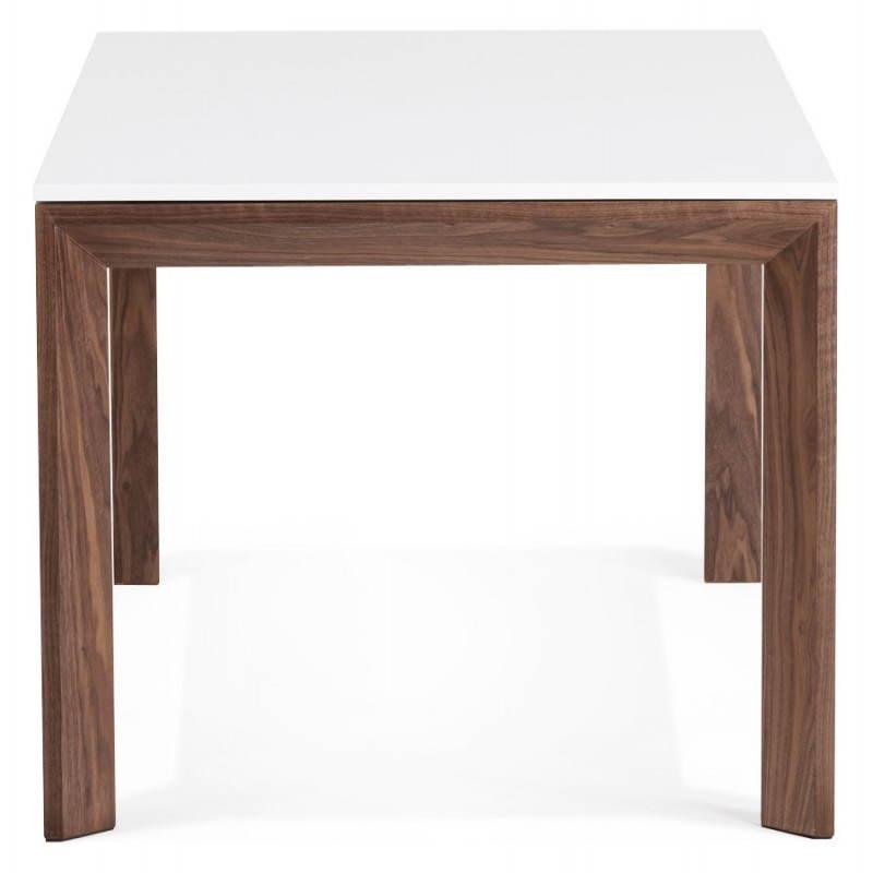 Table en bois blanc avec rallonge for Table design avec rallonge