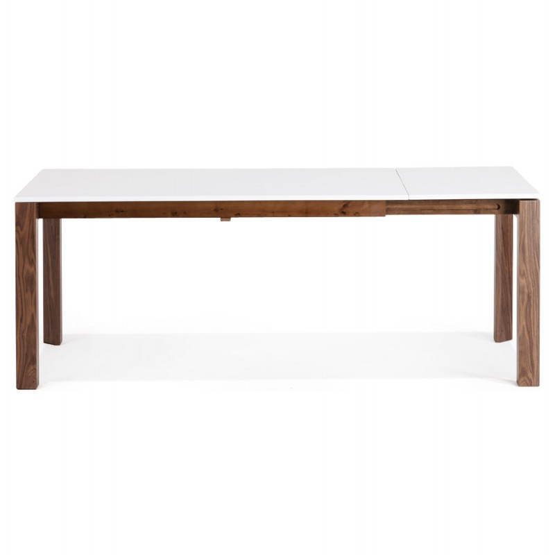 Table bois rallonge design - Table rectangulaire a rallonge ...