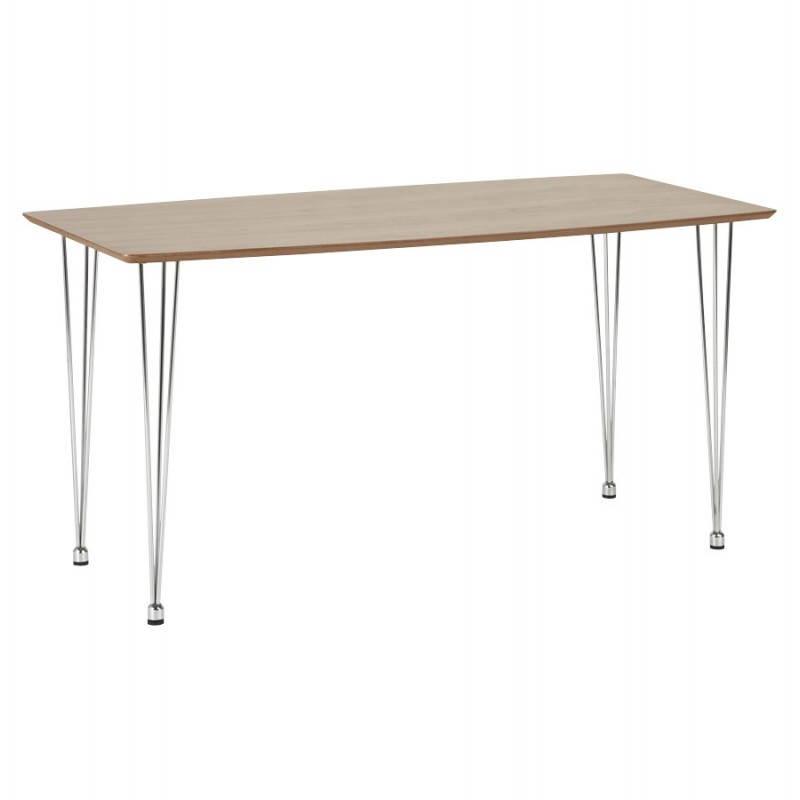 Table design rectangulaire SOPHIE en bois (noyer)